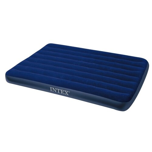Фото - Надувной матрас Intex Classic Downy Airbed (64758) синий надувной матрас intex mid rice airbed 64116 светло темно серый