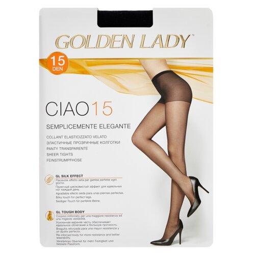 Колготки Golden Lady Ciao 15 den, размер 3-M, nero (черный) колготки golden lady ciao 20 den размер 3 m nero черный