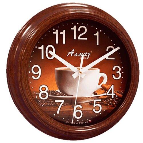 Часы настенные кварцевые Алмаз C43 темно-коричневый