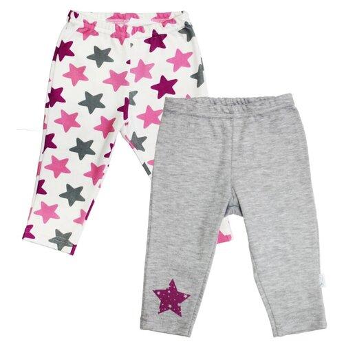 Ползунки Веселый Малыш размер 74, серый/розовый
