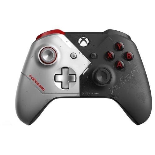 Геймпад Microsoft Геймпад Microsoft Xbox One Wireless Controller Cyberpunk 2077 Limited Edition черный/серебристый