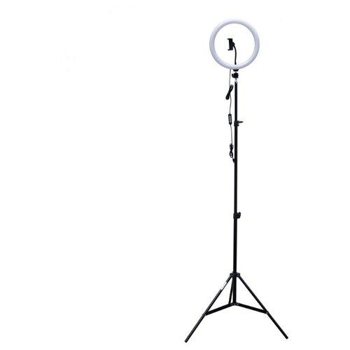 Фото - Комплект Rekam RL-32-1 LED Kit: кольцевая светодиодная лампа с держателем для смартфона и стойкой штатив rekam rl 20 led table kit настольный черный