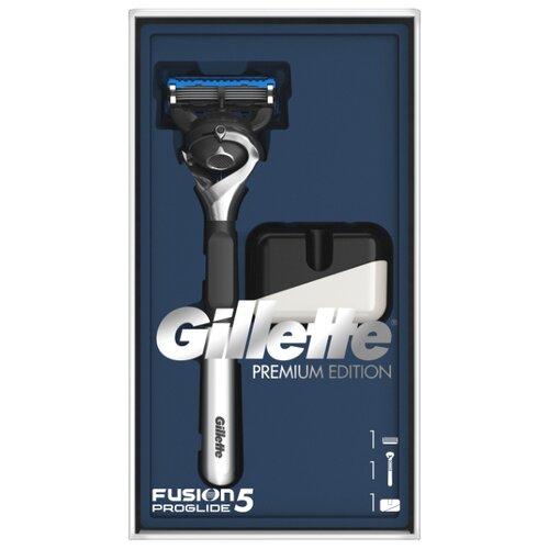 Фото - Набор Gillette подарочный подставка, бритвенный станок Fusion5 Proglide Flexball с эксклюзивной хромированной ручкой Premium Edition набор gillette fusion proglide flexball gil 81628134