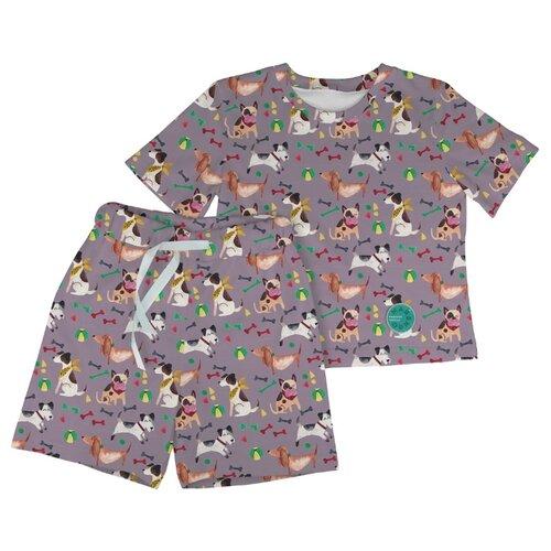 Купить Пижама Marengo Textile размер 140, серый, Домашняя одежда