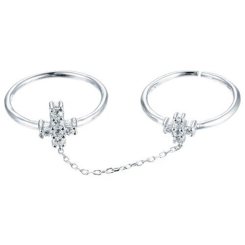 JV Кольцо с фианитами из серебра R-S0451-001-WG, размер 17 jv кольцо с фианитами из серебра r25193 r 001 wg размер 17