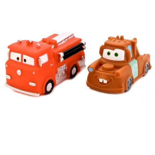 Купить Набор для ванной Играем вместе Тачки (162R-163R-164R-PVC) коричневый/красный, Игрушки для ванной