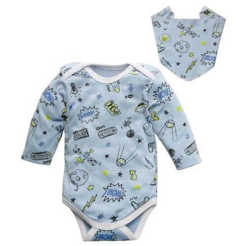 Комплект одежды Amarobaby размер 68, голубой комплект одежды клякса размер 68 голубой