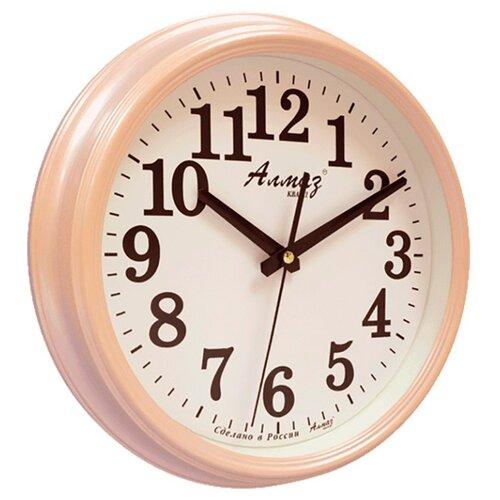 Часы настенные кварцевые Алмаз A79-A85 светло-бежевый/белый часы настенные кварцевые алмаз c04 c10 бежевый с рисунком белый