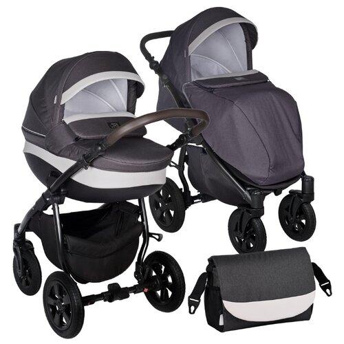Универсальная коляска SWEET BABY Perfetto V2 (2 в 1) black/white