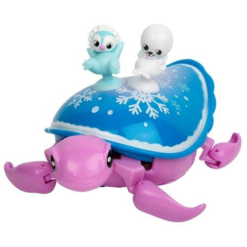 Купить Робот Moose Little Live Pets Черепашка и друзья Снежный бриз 28560 розовый/синий, Роботы и трансформеры