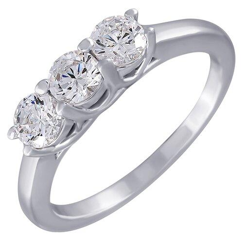 ELEMENT47 Кольцо из серебра 925 пробы с фианитами SL31053A1-001-WG, размер 17.25