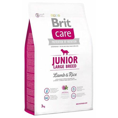 Фото - Сухой корм для щенков Brit Care ягненок с рисом 3 кг (для крупных пород) сухой корм для собак brit care ягненок с рисом 18 кг для средних пород