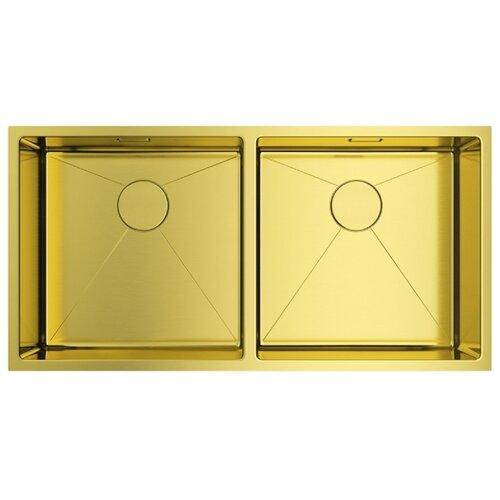 Фото - Врезная кухонная мойка 86.5 см OMOIKIRI Taki 86-2-U/IF LG светлое золото кухонная мойка omoikiri taki 44 u if lg 4973520