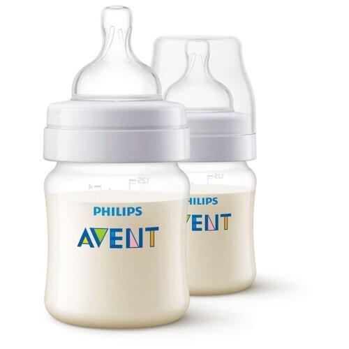 Купить Philips AVENT Бутылочки полипропиленовые Anti-colic SCF810/27, 125 мл, 2 шт. с рождения, бесцветный, Бутылочки и ниблеры