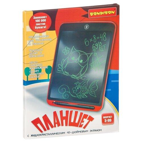 Купить Планшет детский BONDIBON с ЖК-экраном 10' (ВВ4213) красный, Доски и мольберты