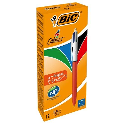 BIC Набор шариковых ручек 4 Colours Original Fine, 0.3 мм (889971), зеленый цвет чернил