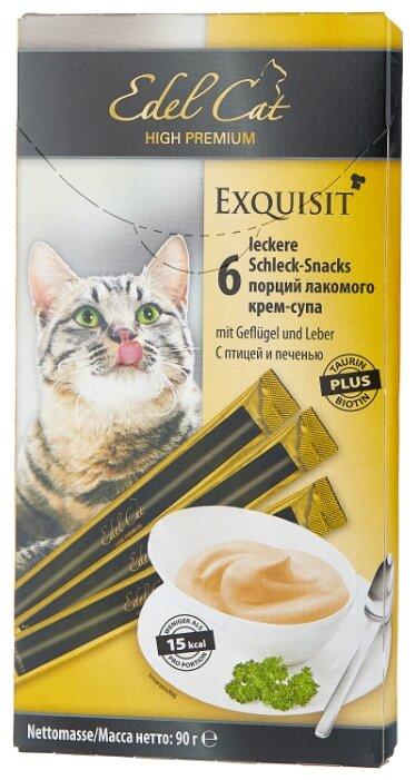 Лакомство для кошек Edel Cat Крем-суп с птицей и печенью