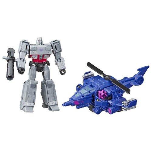 Трансформер Hasbro Transformers Мегатрон и Чоппер Кат. Spark Armor Elite (Кибервселенная) E4327 серый/синий transformers игрушкатрансформер кибервселенная 10 см e1883