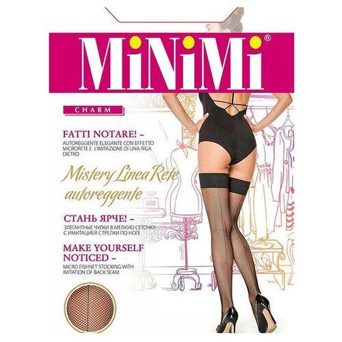 цена Чулки MiNiMi Mistery Linea Rete, размер 2-S/M, cappuccino (коричневый) онлайн в 2017 году
