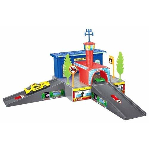 Купить Dave Toy Паркинг Аэропорт 32019 синий/красный/серый, Детские парковки и гаражи