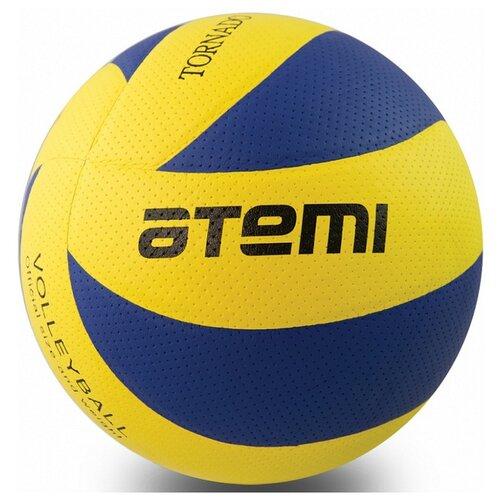 Волейбольный мяч ATEMI Tornado PVC желто-синий