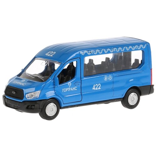 Купить Микроавтобус ТЕХНОПАРК Ford Transit Гортранс (SB-18-18-B-WB) 12 см синий, Машинки и техника