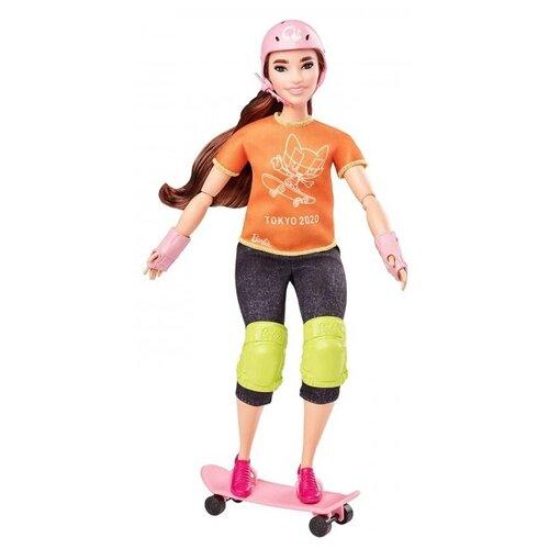 Купить Кукла Barbie Олимпийская спортсменка Скейтбординг, 30 см, GJL78, Куклы и пупсы