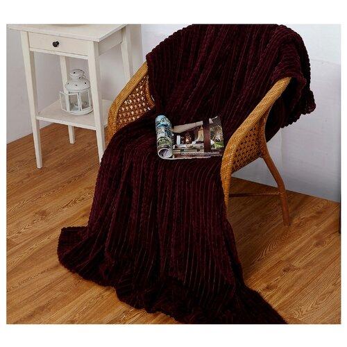 Фото - Плед Cleo Carre 200x220 см, бордовый плед cleo бамбук 150x200cm 150 231 pb