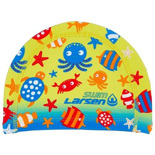 Шапочка для плавания Larsen LC100 синий/желтый/красный