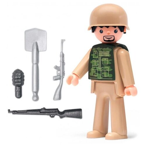 Фигурка Efko Солдат с аксессуарами 30224EF-CH efko игровая фигурка efko пожарный 8 см с аксессуарами