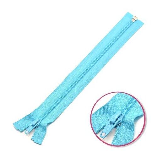 Купить YKK Молния витая разъёмная 0004706/55, 55 см, голубой лед/голубой лед, Молнии и замки