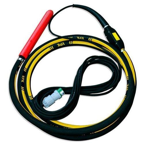 Электрический глубинный вибратор высокочастотный ВПК Механизация 65T черный/желтый