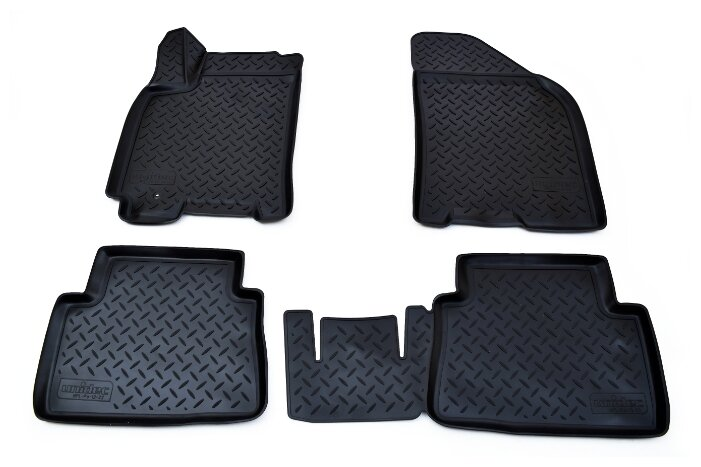 Купить Комплект ковриков NorPlast NPL-Po-12-22 4 шт. черный по низкой цене с доставкой из Яндекс.Маркета (бывший Беру)