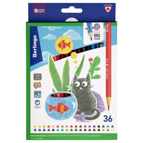 Фото - Berlingo Карандаши цветные SuperSoft Жил-был кот 36 цветов (SS00536) berlingo карандаши цветные пластиковые цирк 18 цветов cp 04812