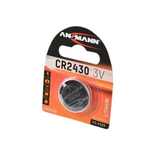 Батарейка ANSMANN CR2430 1 шт блистер батарейка ansmann cr2025 1 шт блистер