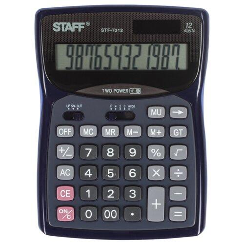 Калькулятор бухгалтерский STAFF STF-7312 синий