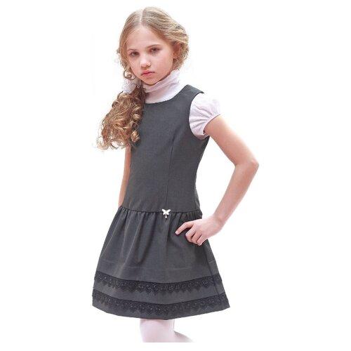 Купить Сарафан Nota Bene размер 164, серый, Платья и сарафаны