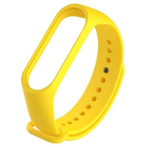 Ремешок силиконовый Titan для фитнес браслета Xiaomi Mi Band 5 желтый