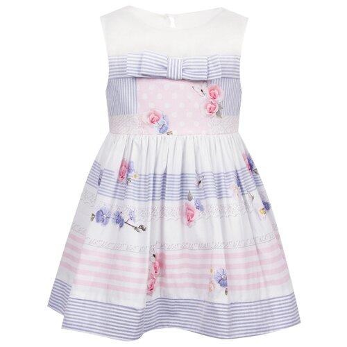 Платье Lapin House размер 92, белый/полоска