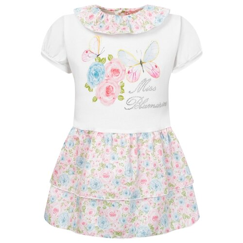 Платье Blumarine размер 68, белый/розовый/голубой