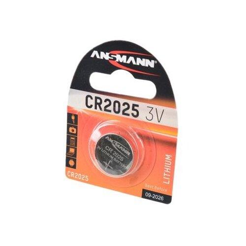 Батарейка ANSMANN CR2025 1 шт блистер батарейка ansmann cr2025 1 шт блистер