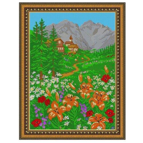 Светлица Набор для вышивания бисером Вид на горы 27,5 х 35,1 см (080)