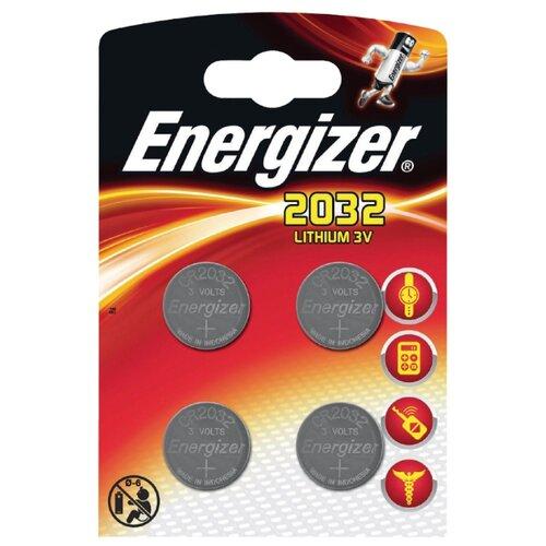 Фото - Батарейка Energizer CR2032, 4 шт. батарейка energizer cr123 1 шт 4 уп
