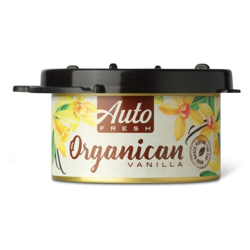 Auto Fresh Ароматизатор для автомобиля Organican Vanilla 60 мл гелевый ароматизатор для автомобиля vanilla cupcake