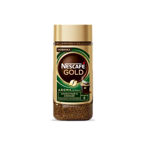Кофе Nescafe Gold Aroma растворимый с добавлением жареного молотого кофе, 85 г