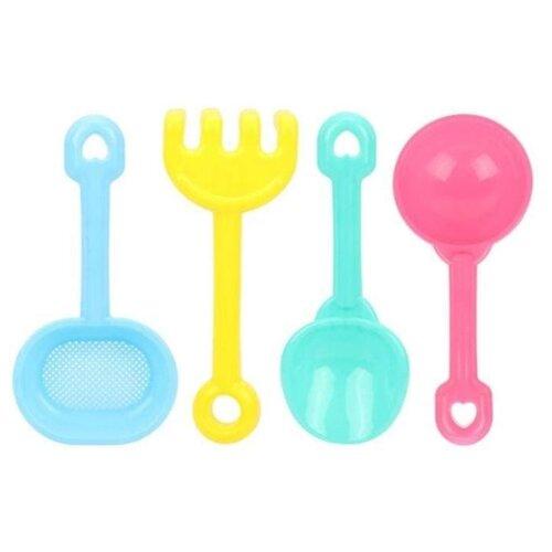 Купить Набор Наша игрушка 4411-A17 желтый/голубой/розовый, Наборы в песочницу