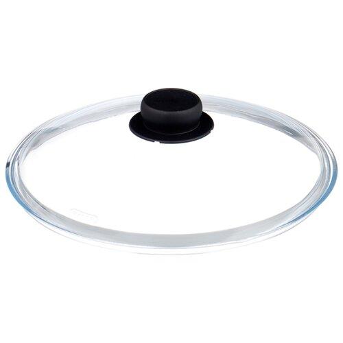 Крышка Attribute стеклянная Nero ALL028 (28 см) прозрачный/черный