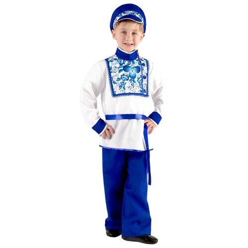 Купить Костюм Вестифика Гжель (101 033), белый/синий, размер 128-134, Карнавальные костюмы