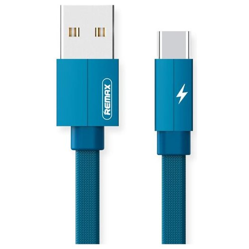 Кабель Remax Kerolla USB - microUSB (RC-094m) 1 м синий кабель remax kerolla usb usb type c rc 094a 1 м синий