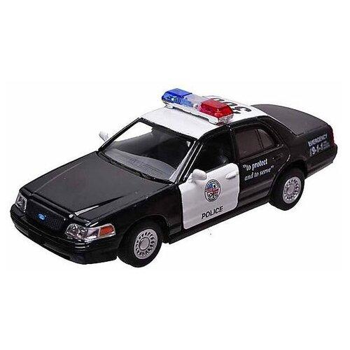 Легковой автомобиль Kinsmart Ford Crown Victoria Police Interceptor (KT5327W) 12.7 см черный